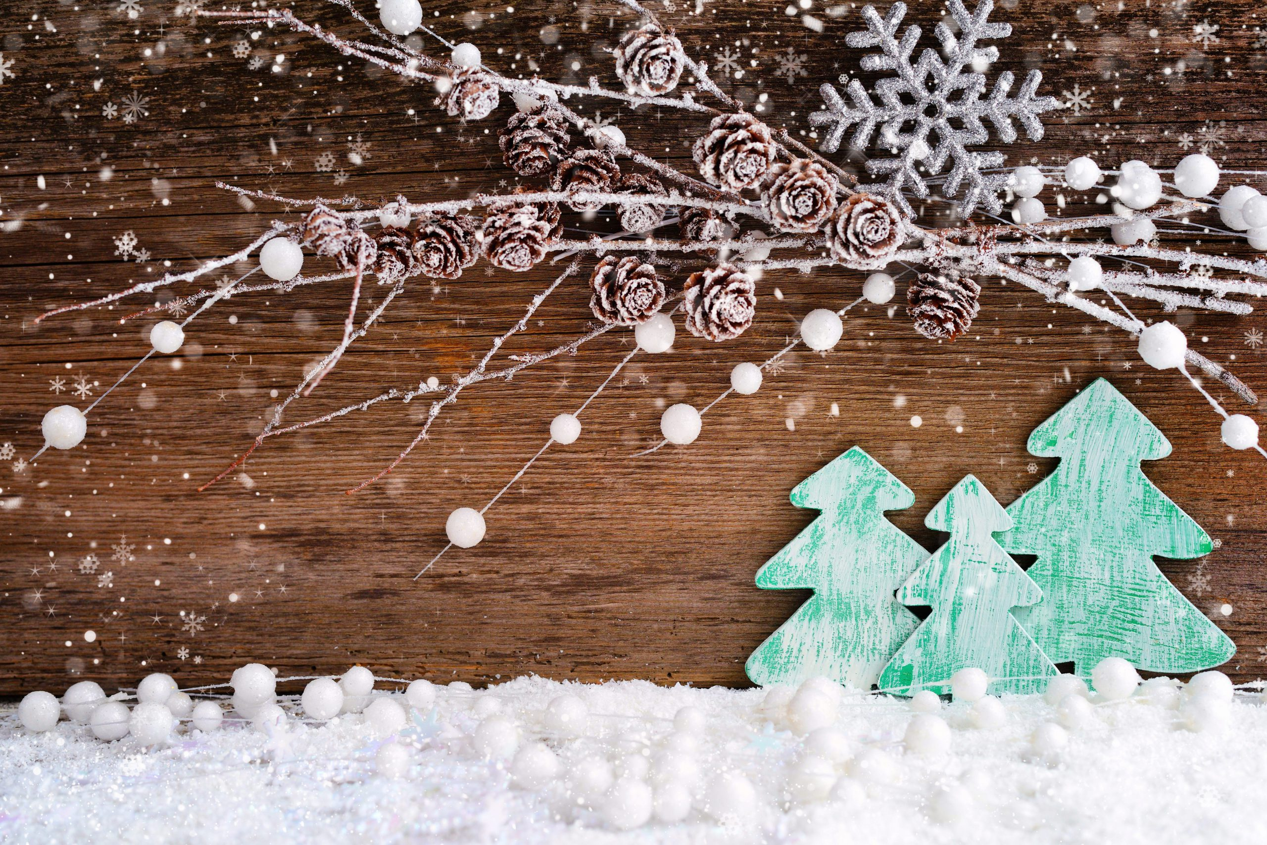 houten kerstboom versiering
