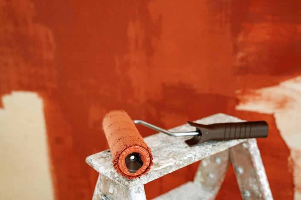 Stucwerk oranje